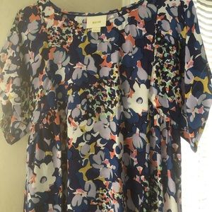 XS Anthropologie floral blouse.